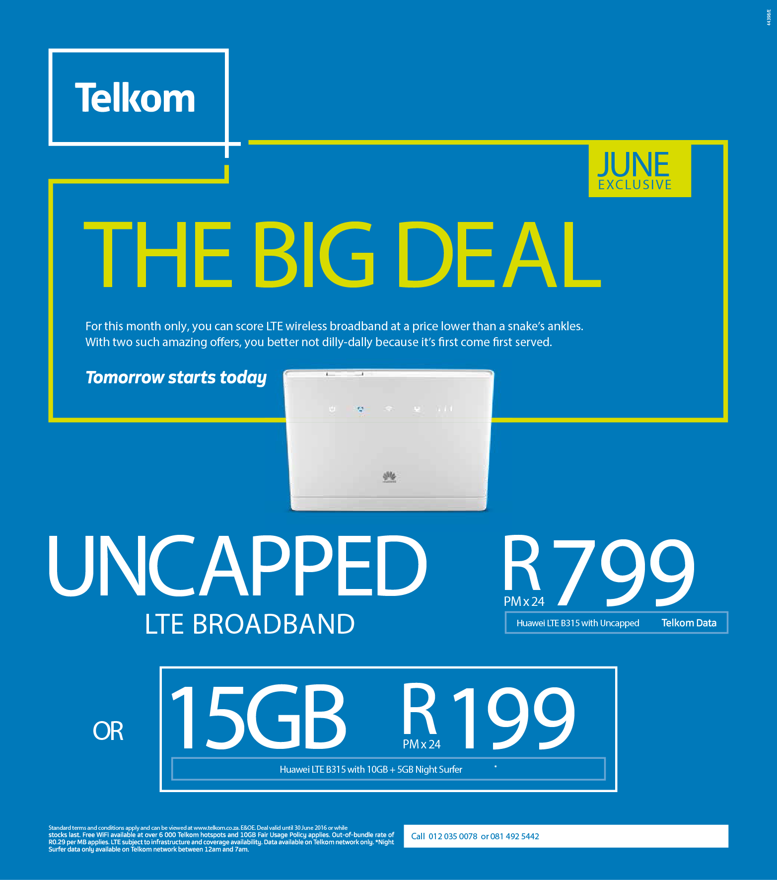 Uncapped Smart Broadband Wireless B315 Router R799pm